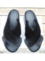 1845 Сабо норка черный